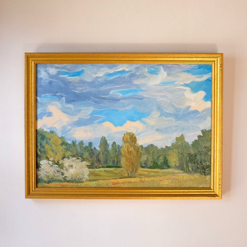 Summer in the Clearing Vintage Impressionist Landscape Oil Painting
