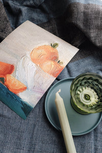 Oranges in a Bowl Art Print