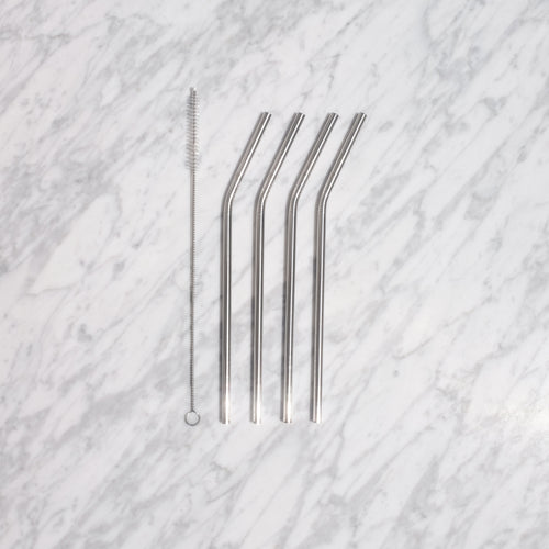 Curved Metal Straw Gift Set