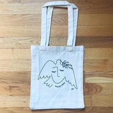 Load image into Gallery viewer, Dove and Woman Tote Bag