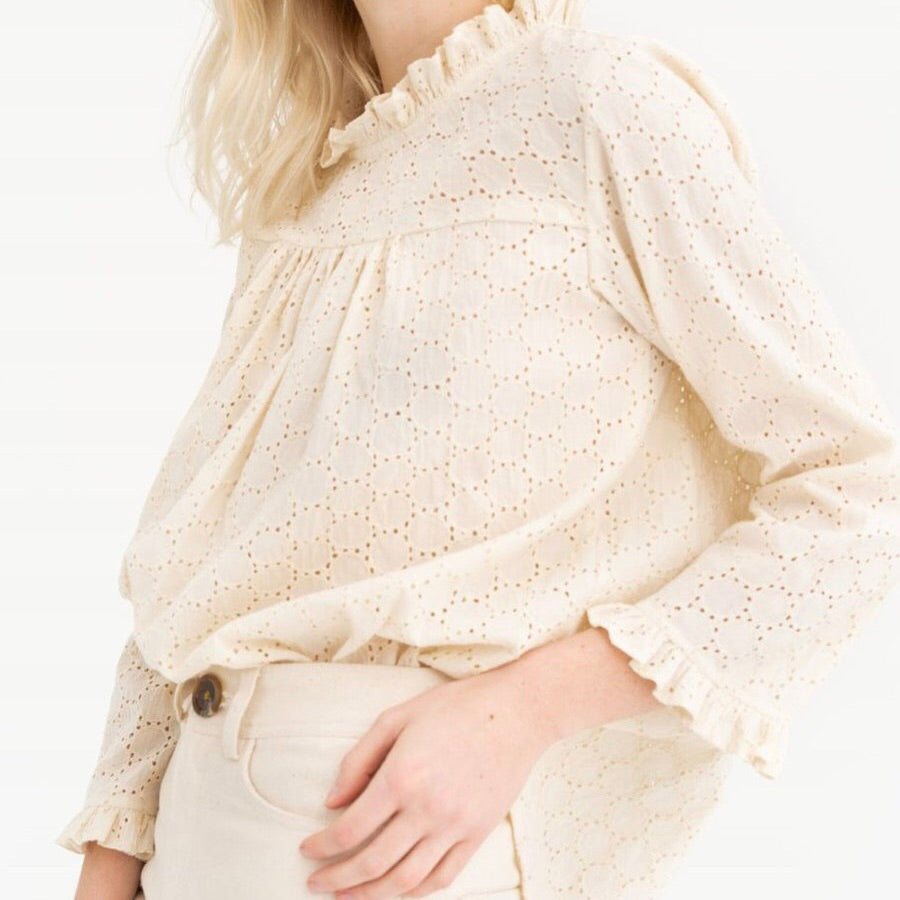 Tribe Alive Eyelet Top | Ethical Sustainable Apparel | Golden Rule Gallery