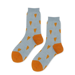 Queenie Crew Socks in Pale Blue
