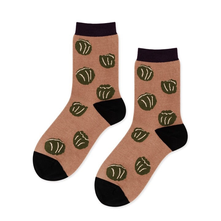 Brussels Crew Socks in Almond