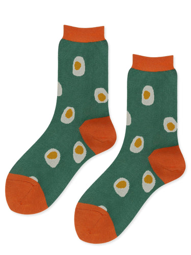 Egg Crew Socks in Green