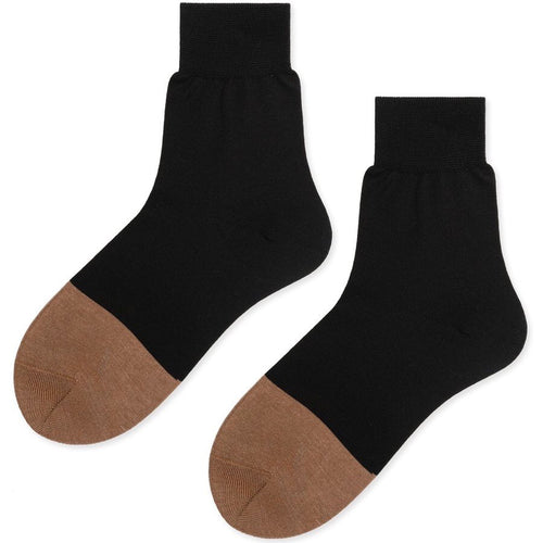 Colorblock Trouser Crew Socks in Black