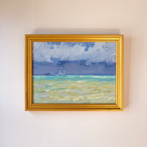 Before the Storm Vintage Impressionist Seascape Oil Painting