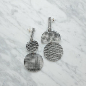 Mismatch Cross Hatch Earrings