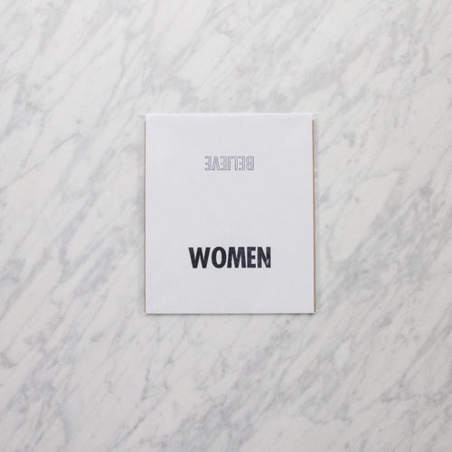 Believe Women Letterpress Art Print