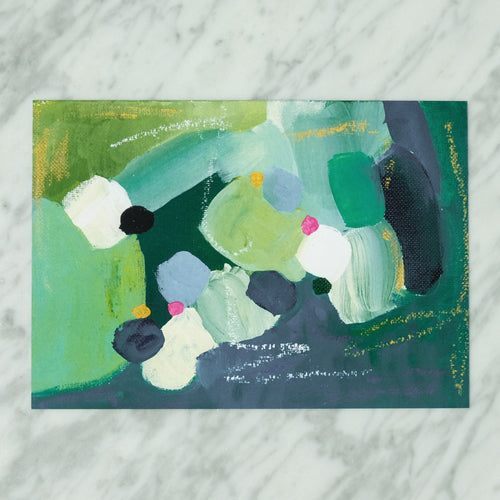 Abstract Art Print In Green Tones