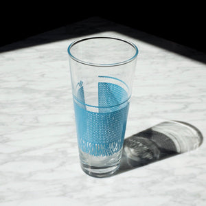 Blue Knitted Drinking Glasses