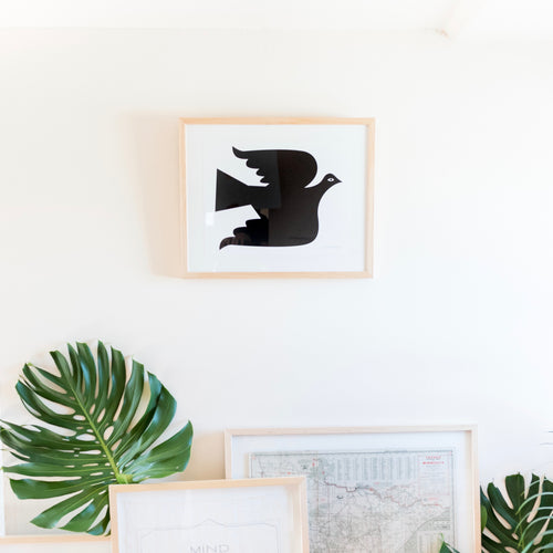 Dove Art Print In Black