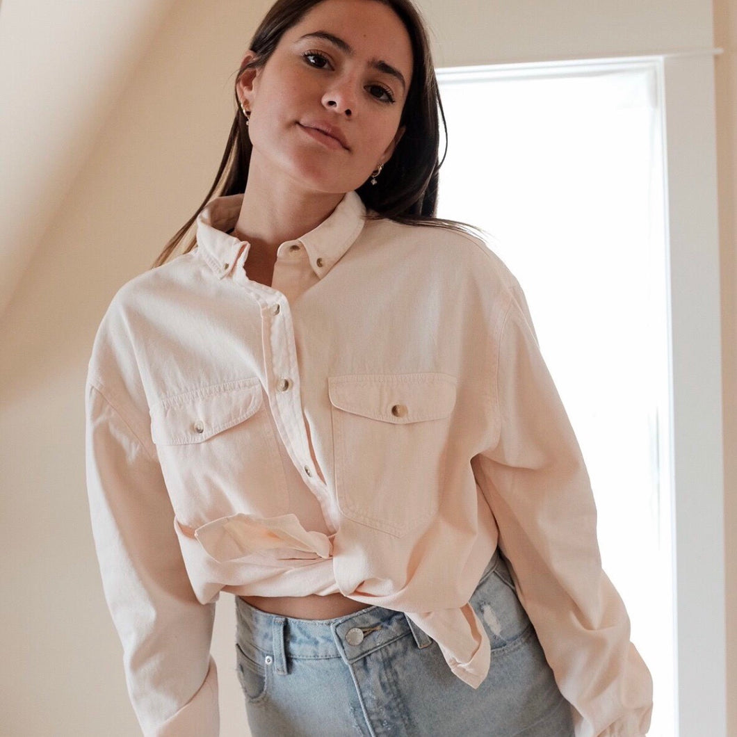 Slouch Shirt in Soft Pink