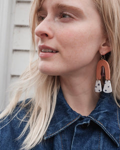 Sante Terracotta Dotted Earrings