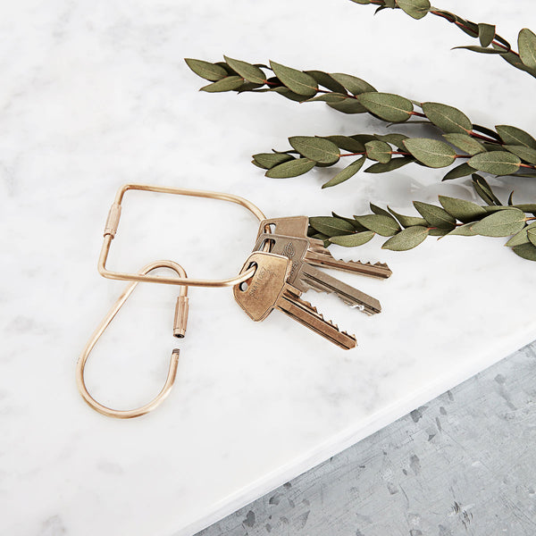 Brass Keychain | Society of Lifestyle | Minimalistic Keychain | Golden Rule Gallery | Excelsior, MN