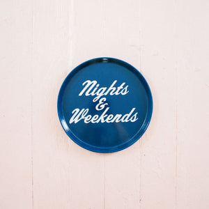 Nights & Weekends Navy Drink Tray