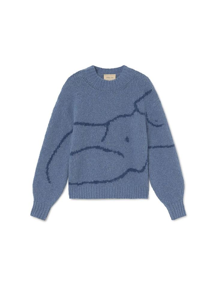 Paloma Wool Women's Figure Sweater | Blue Palmira Sweater | Golden Rule Gallery | Excelsior, MN