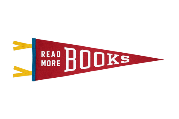 Read More Books Pennant | Oxford Pennant | Room Decor | Golden Rule Gallery | Excelsior, MN