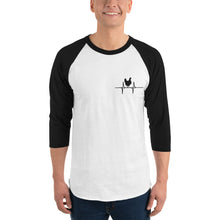Chicken Heart Beat 3/4 sleeve raglan shirt