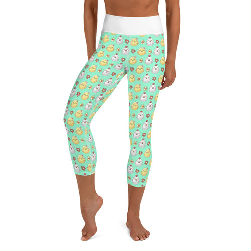 Green Sleepy Chick Yoga Capri Leggings