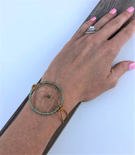 Load image into Gallery viewer, Dream Catcher Bracelet Brown Leather