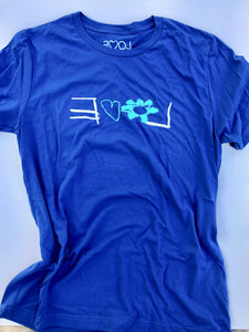 LOVE Luca Design Royal Blue Tee