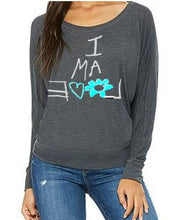 Load image into Gallery viewer, Flowy Long Sleeve Gray