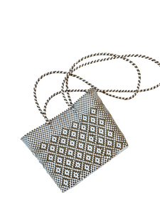 Cross Body - Gold and White Design