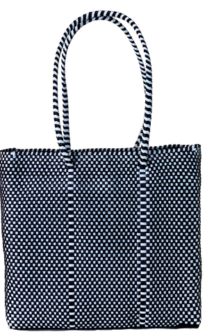 Small Tote - Black and White
