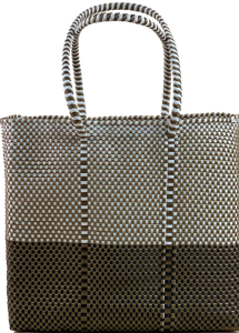 Small tote - Gold and White + B Gold and Black