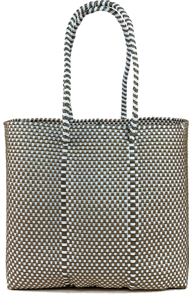 Small Tote - Gold and White