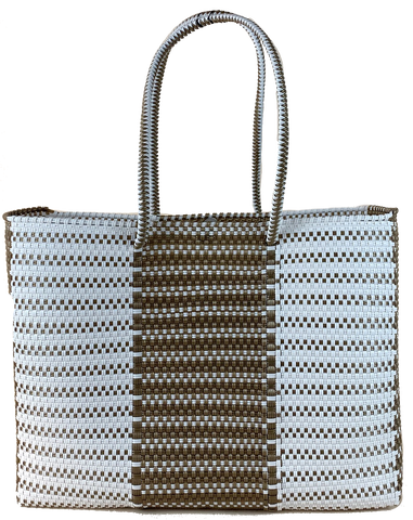 Tote - Gold and White Design