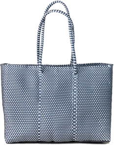 Tote - Silver and White