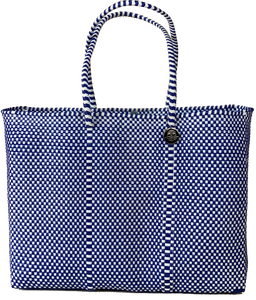 Tote - Blue and White