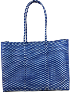 Tote - Navy and Silver