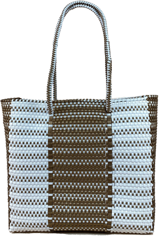 Small Tote - Gold and White Design