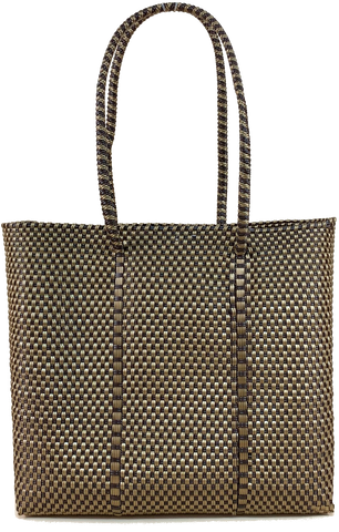 Small Tote - Gold and Brown