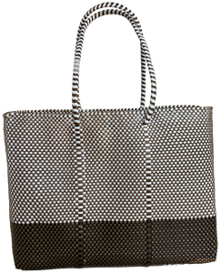 Tote - White and Gold + B. Black and Gold
