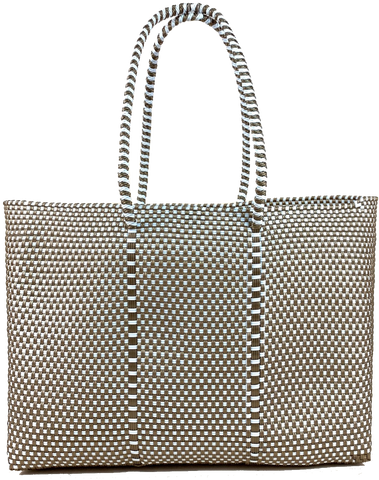 Tote - Gold and White