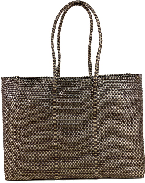 Tote - Brown & Gold