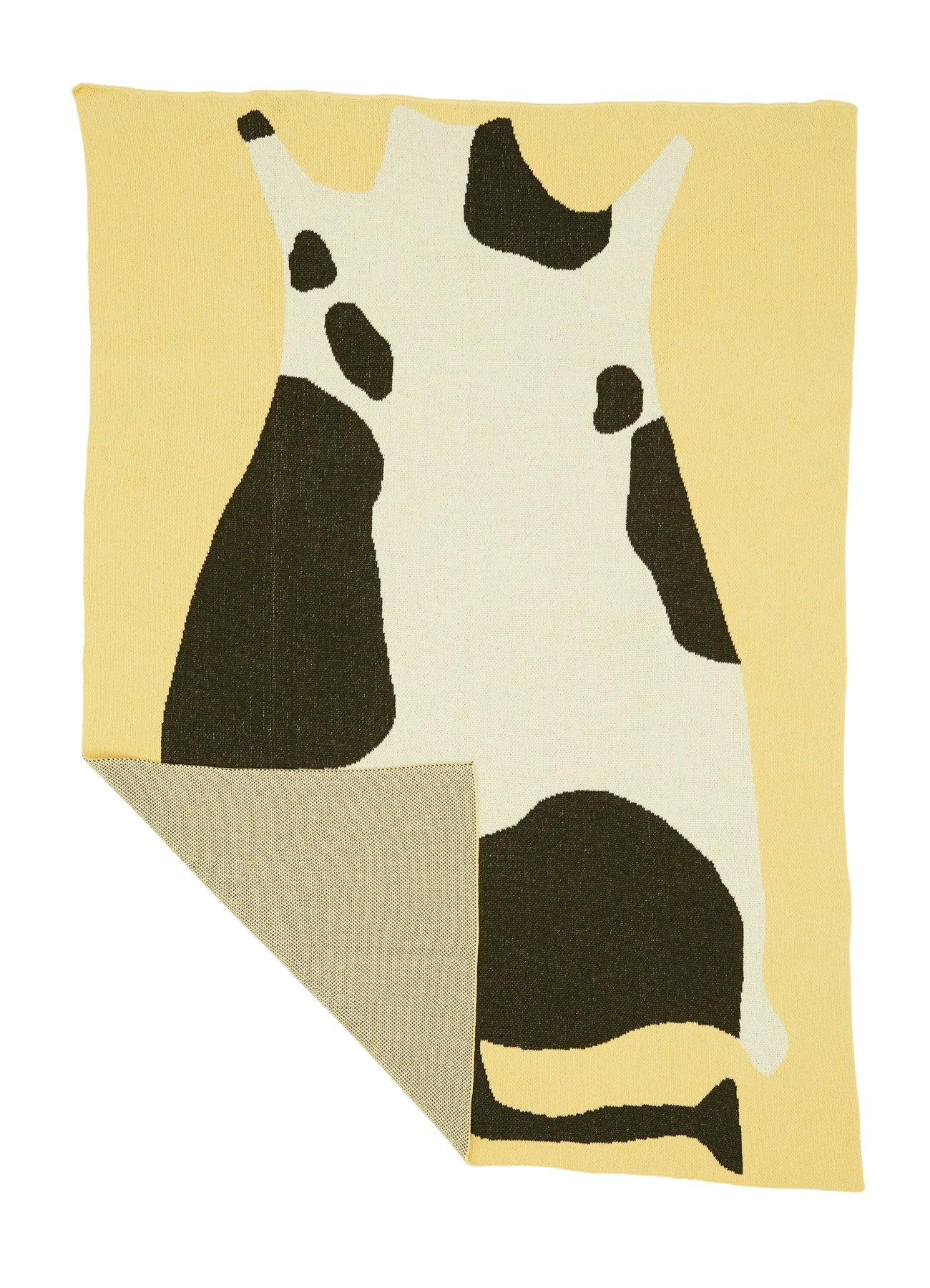 Cow Knit Blanket