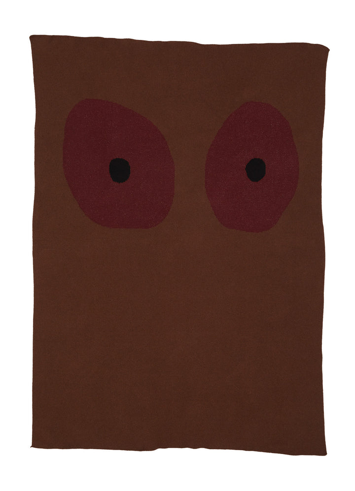 Tonal Boob Knit Blanket - Brown