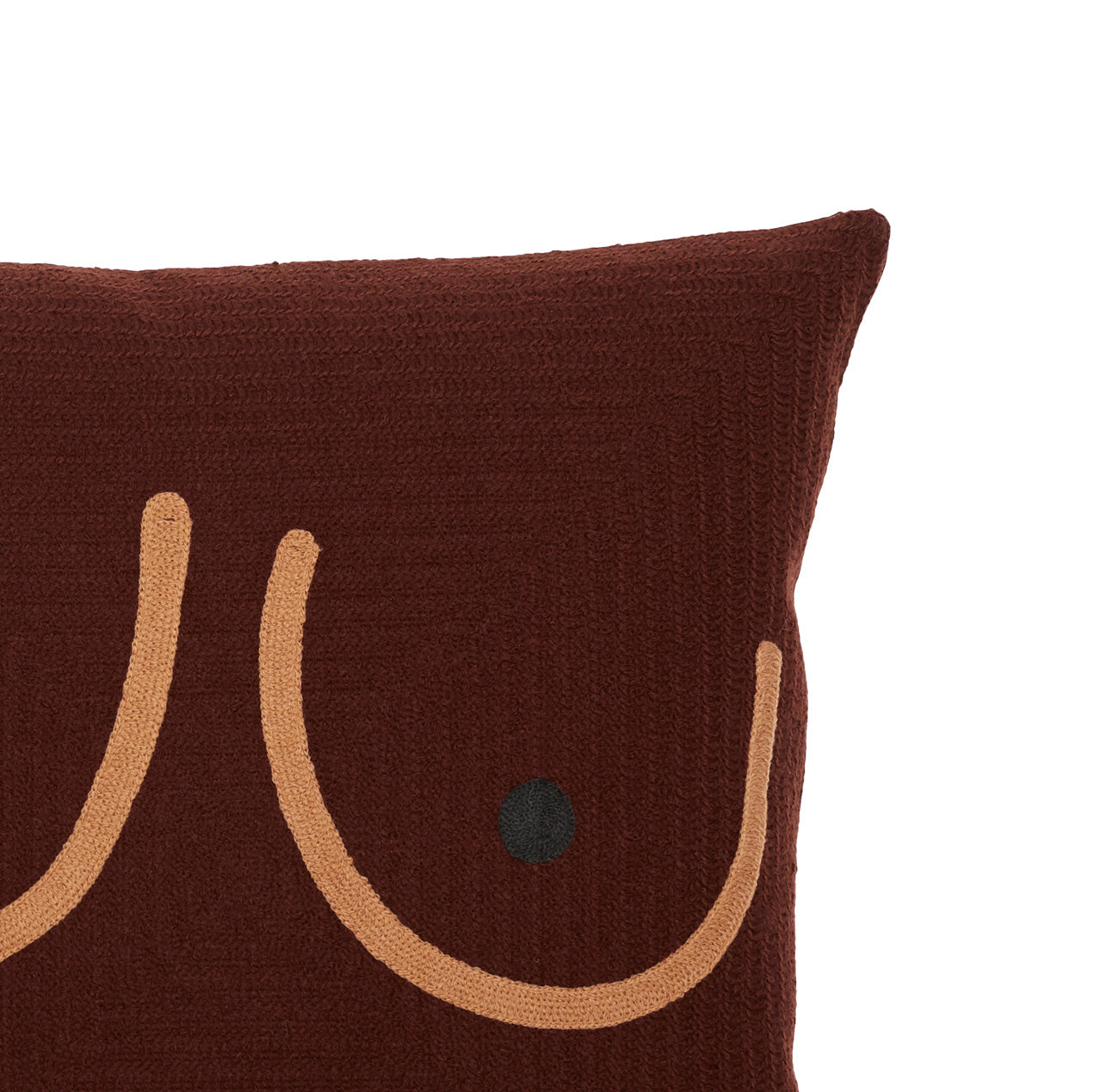 Deep Brown Boob Pillow w/ Brown