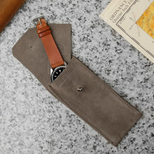 Load image into Gallery viewer, Earl Grey Suede Watch Pouch