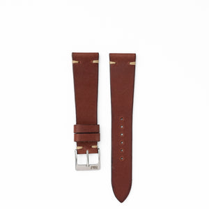 Mocha - Vintage Style Leather Strap