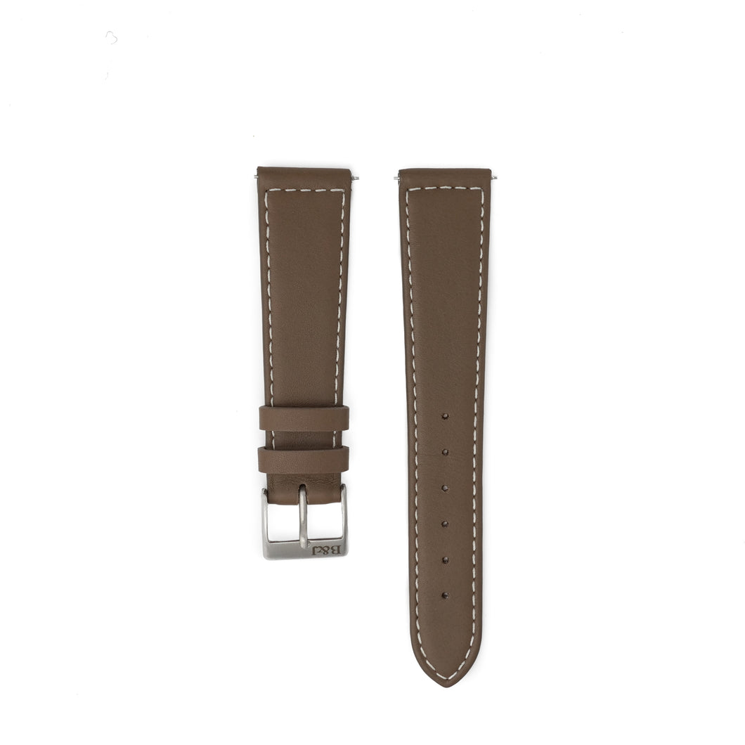 Smooth Taupe Textured Strap- B&J x JPM