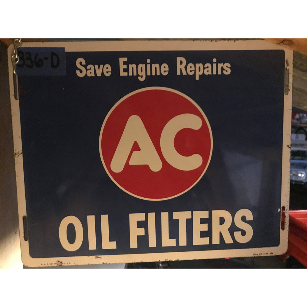 AC Oil Filters Save Engine Repair Vintage Sign