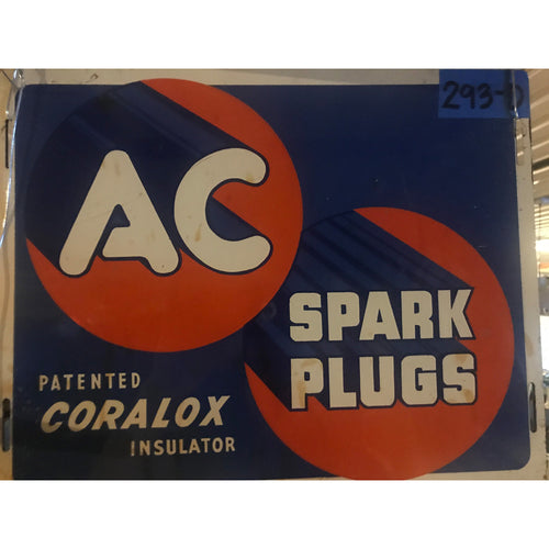 AC Spark Plugs Coralox Insulator Vinatage Sign
