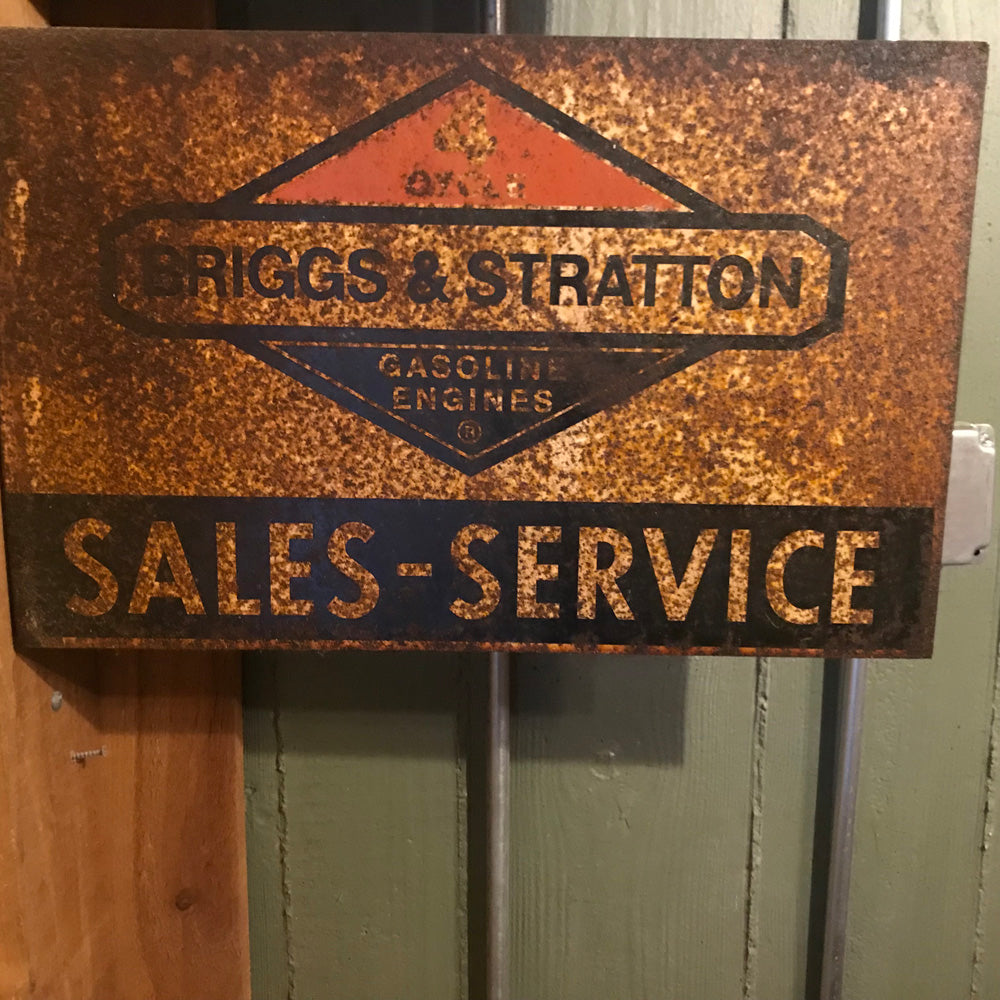Briggs Stratton Sales Flange Sign