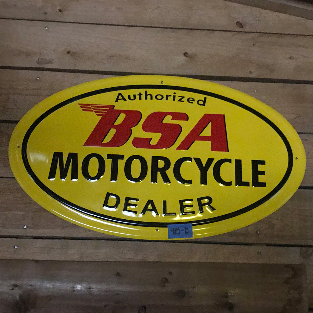 BSA Motorcycle Vintage Sign