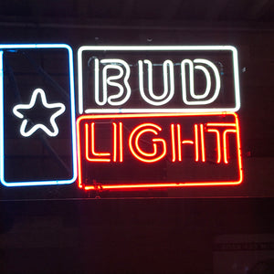 Bud Light Star Neon Sign